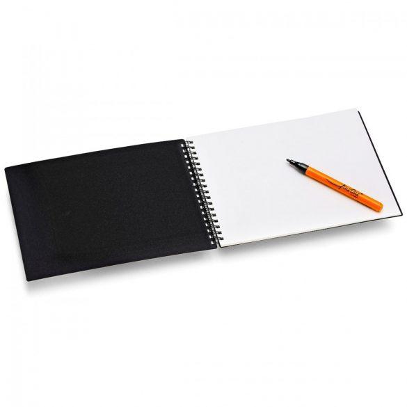Set 2 caiete de schite, My Sketchbook, natur si negru