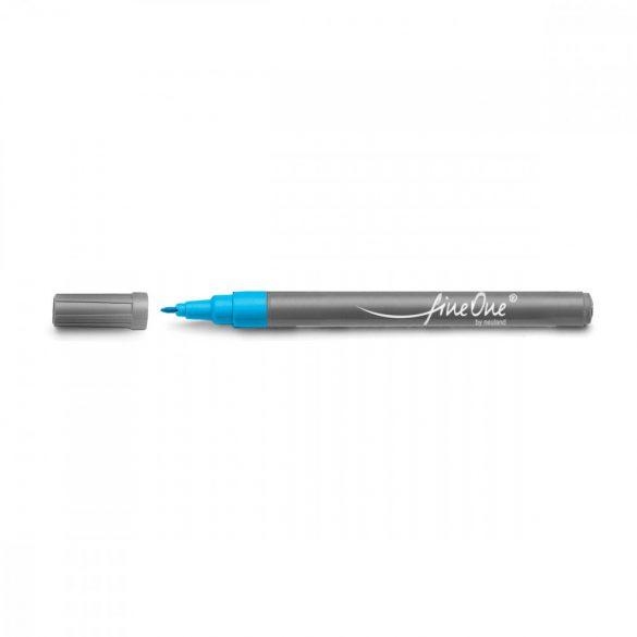 Marker Fineliner Neuland FineOne® varf rotund, 0.8 mm, Turcoaz (301)