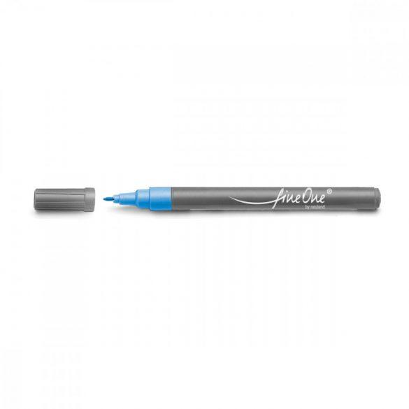 Marker Fineliner Neuland FineOne® varf rotund, 0.8 mm, Albastru pastel (303)