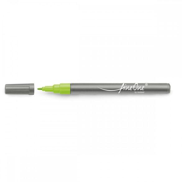 Marker Fineliner Neuland FineOne® varf rotund, 0.8 mm, Verde Deschis (401)