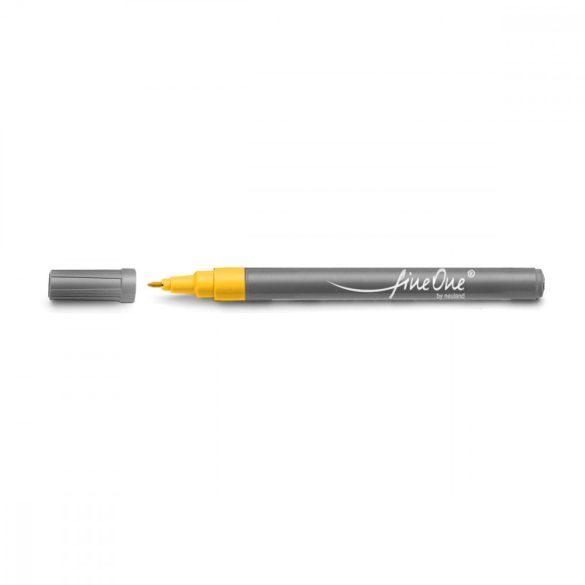 Marker Fineliner Neuland FineOne®varf rotund,  0.8 mm, Galben (501)