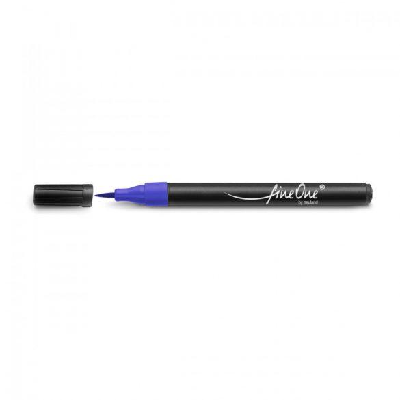 Fineliner Marker cu varf pensula Neuland FineOne® Art, 0.5-5 mm, Albastru (300)