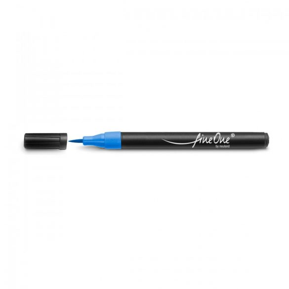 Fineliner Marker cu varf pensula Neuland FineOne® Art, 0.5-5 mm, Albastru Deschis (302)