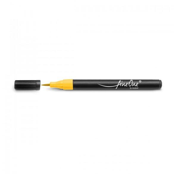 Fineliner Marker cu varf pensula Neuland FineOne® Art, 0.5-5 mm, Galben (501)