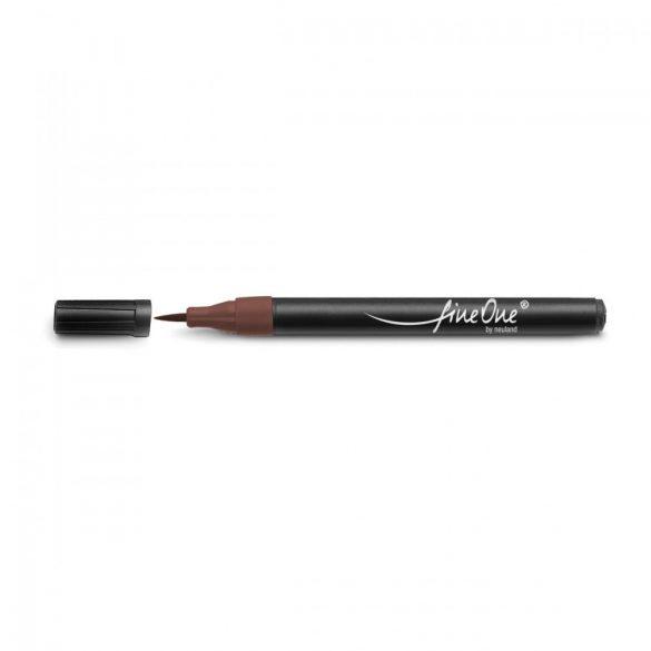 Fineliner Marker cu varf pensula Neuland FineOne® Art, 0.5-5 mm, Maro Inchis