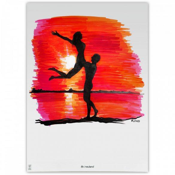 Set Markere Reincarcabile Neuland BigOne®, vârf teșit 6-12 mm: 5/set no. 8 Sweet Sunset