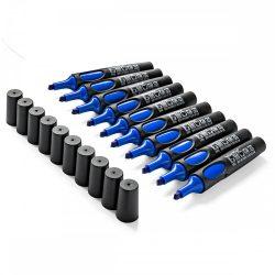 Set 10 markere Neuland No.One®, varf tesit, Albastru
