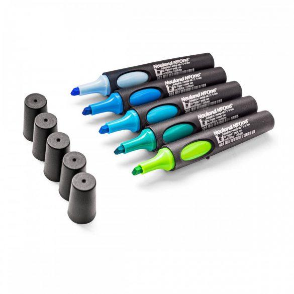 Set flipchart marker, Neuland No.One®, varf tesit, 2-6 mm, 5 buc/set, Set No. 16: Mermaid's Kiss