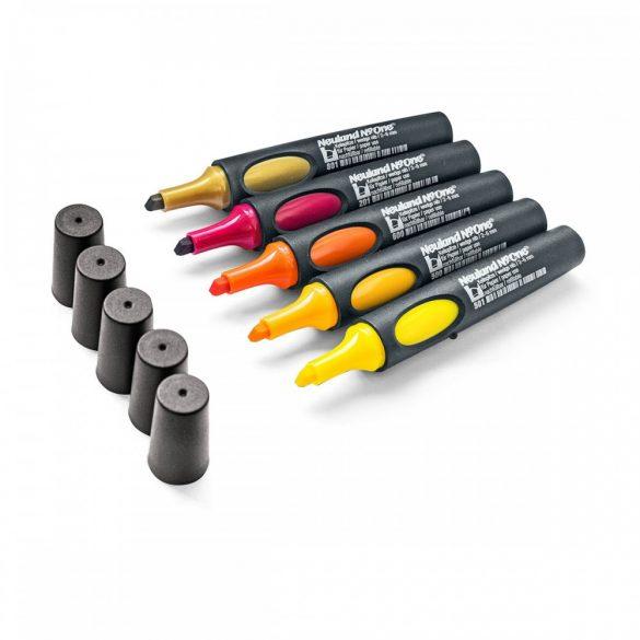 Set flipchart marker, Neuland No.One®, varf tesit, 2-6 mm, 5 buc/set, Set No.: 17 Sunset