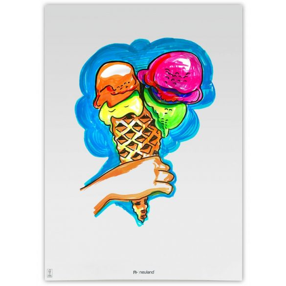 Set flipchart marker Neuland No.One®, varf tesit, 2-6 mm, 5 culori/set, Set No. 14: Ice in the Sunshine