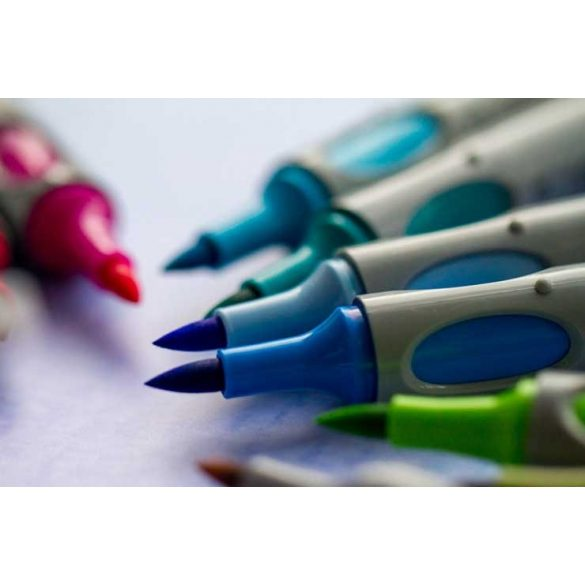 Marker pensula, Neuland No.One® Art, 0,5 -7 mm, Albastru (300)