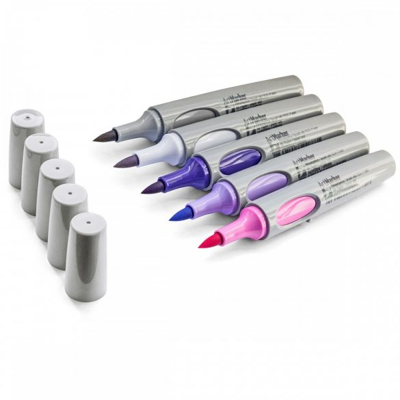 Marker Neuland No.One® Art, cu vârf pensulă 0,5-7 mm: 5/set
