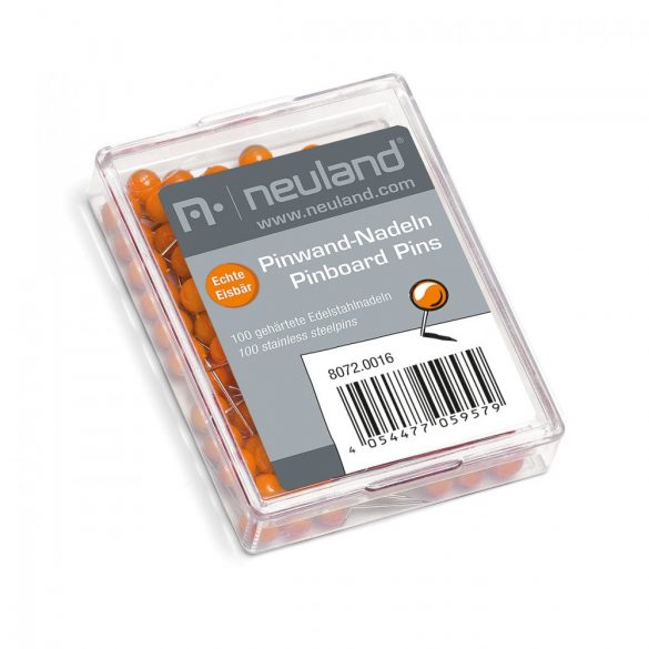 Pioneze pentru Panou Pinboard  Ø 6 mm, cap Portocaliu