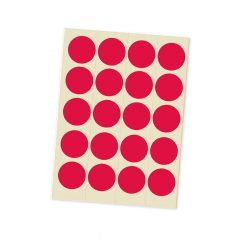 Eticheta Bulina 20 mm - Rosu