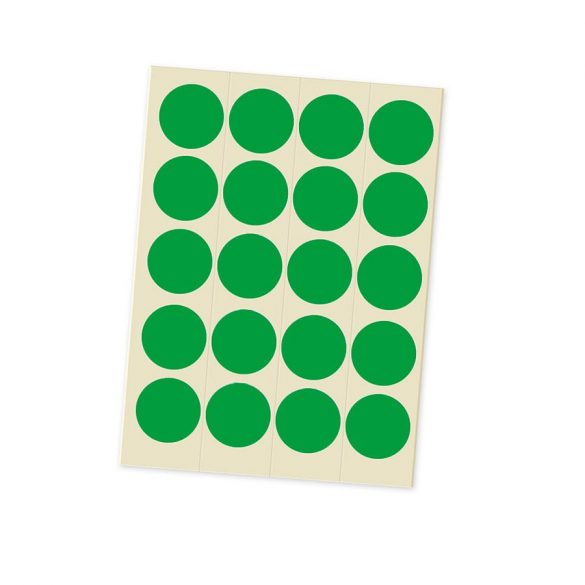 Etichete Bulina 20 mm, Verde
