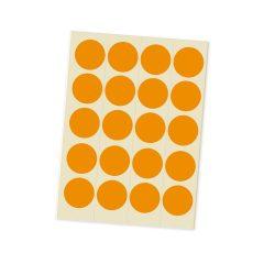 Eticheta Bulina 20 mm - Portocaliu