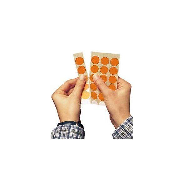 Etichete Bulina 20 mm, Portocaliu