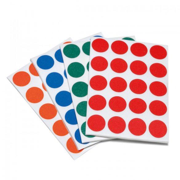 Etichete bulina 20 mm , set 4 culori asorate