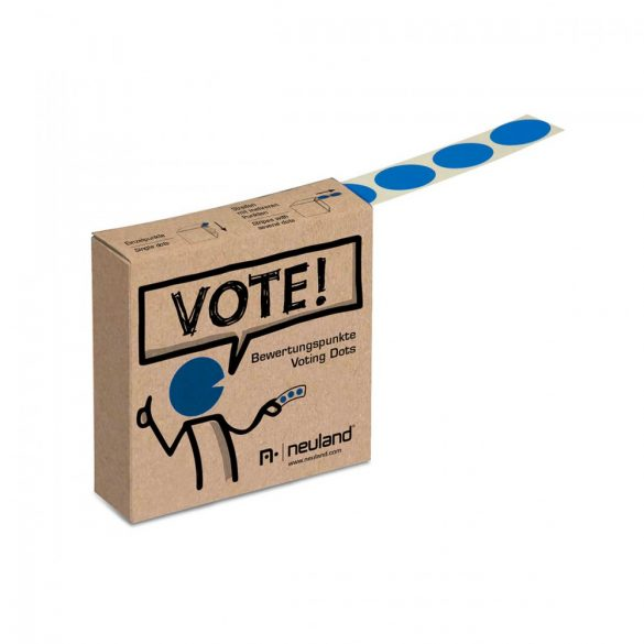 Etichete bulina VOTEAZA!, Albastru, banda