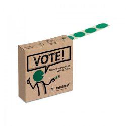 VOTEAZA! Eticheta Autcolanta Bulina Verde - rolă