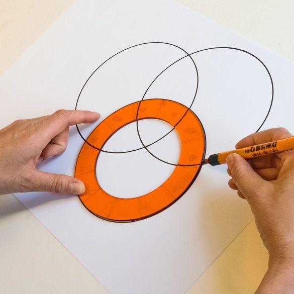 Șablon Orbits pentru tabla de scris