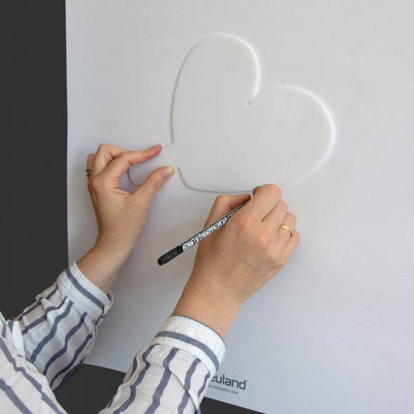 Pictograme pentru Afirmatii Vizuale, ShapeOne, 20,1 x 22,9 cm, Simbol Inima Mini