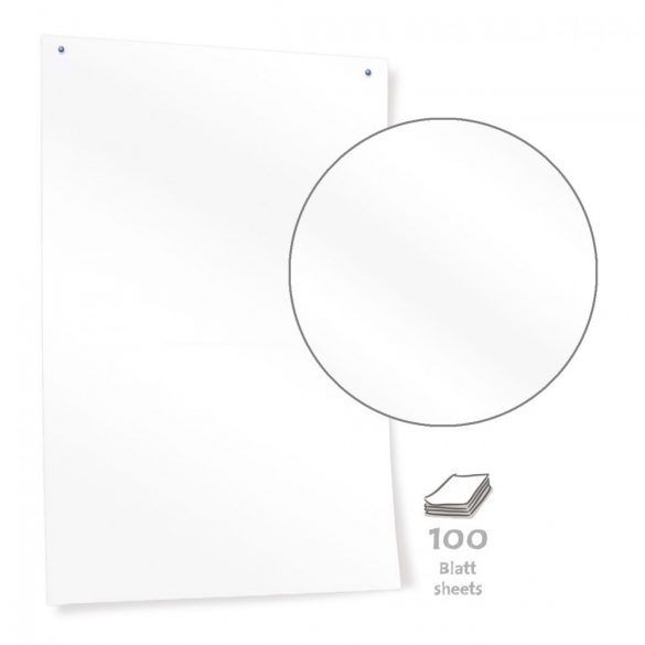 Hârtie Panou textil Neuland Pinboard, alb lucios, 50 file