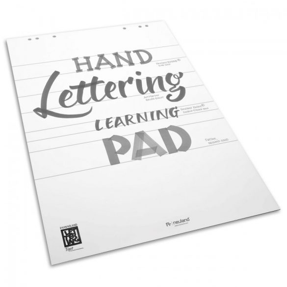 Sablon Hartie Flipchart Handlettering Learning Pad, alb, 25 file