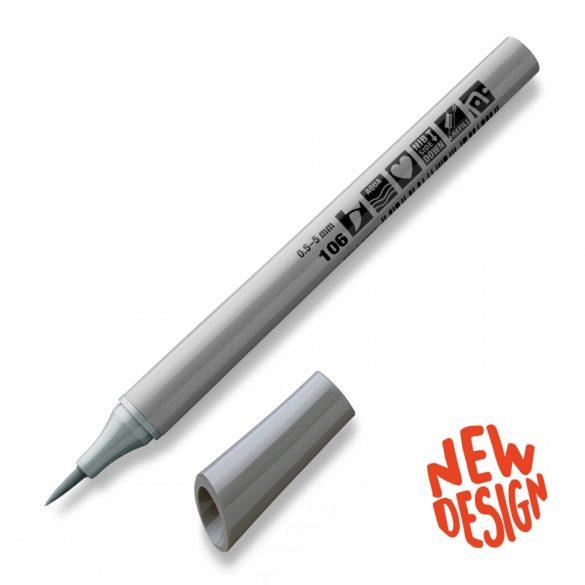 Marker Neuland FineOne® Art, 0.5-7 mm, vârf pensulă, Gri 3  (106)