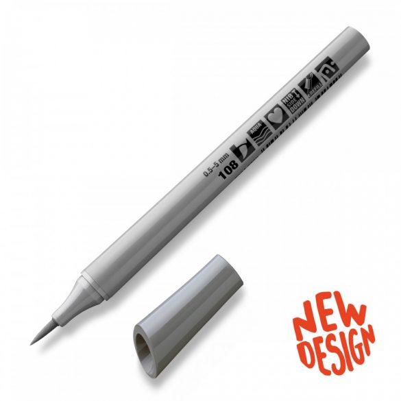 Fineliner Marker cu varf pensula Neuland FineOne® Art, 0.5-7 mm, Gri 5 (108)