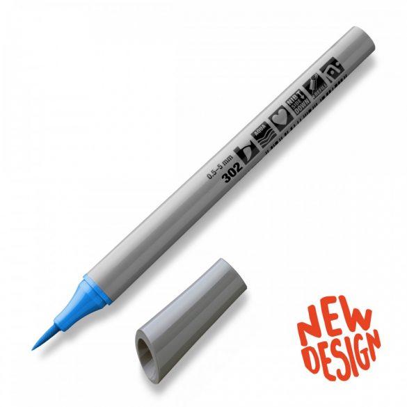 Marker Neuland FineOne® Art, 0.5-7 mm, vârf pensulă, Albastru Deschis (302)