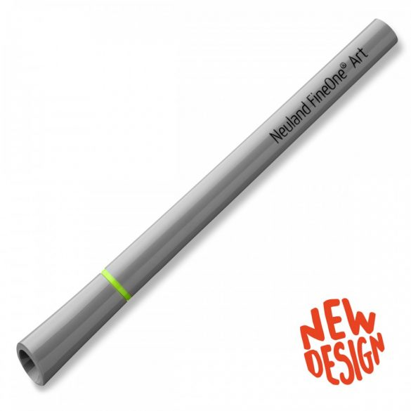 Fineliner Marker cu varf pensula Neuland FineOne® Art, 0.5-7 mm, Galben (501)