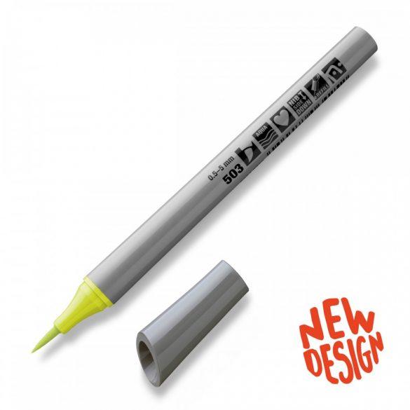 Marker Neuland FineOne® Art, 0.5-7 mm, vârf pensulă, Lime (503)