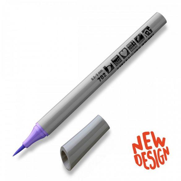 Fineliner Marker cu varf pensula Neuland FineOne® Art, 0.5-7 mm, Violet Pastel (702)